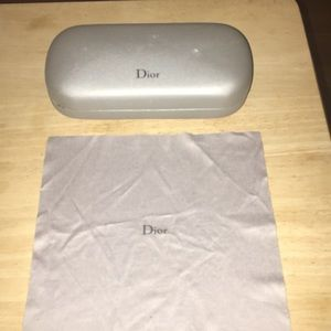 Dior Eyeglass Case and Cleaning Cloth